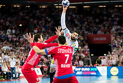 Nikola Karabatic of France during handball match between National teams of Croatia and France on Day 7 in Main Round of Men's EHF EURO 2018, on January 24, 2018 in Arena Zagreb, Zagreb, Croatia.  Photo by Vid Ponikvar / Sportida