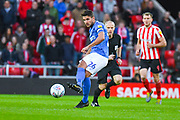 Gareth Evans of Portsmouth (26) passes the ball during the EFL Sky Bet League 1 first leg Play Off match between Sunderland and Portsmouth at the Stadium Of Light, Sunderland, England on 11 May 2019.