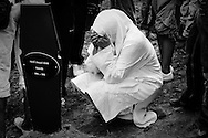A mother mourns her son killed in the Srebrenica massacre when he was 11 years old.