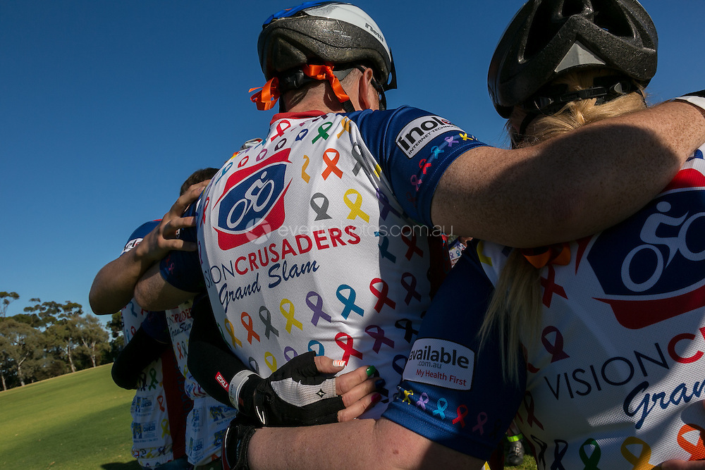 Adelaide Ride to Conquer Cancer 2013. Day 1. Adelaide. South Australia. Photo By Pat Brunet/Event Photos Australia