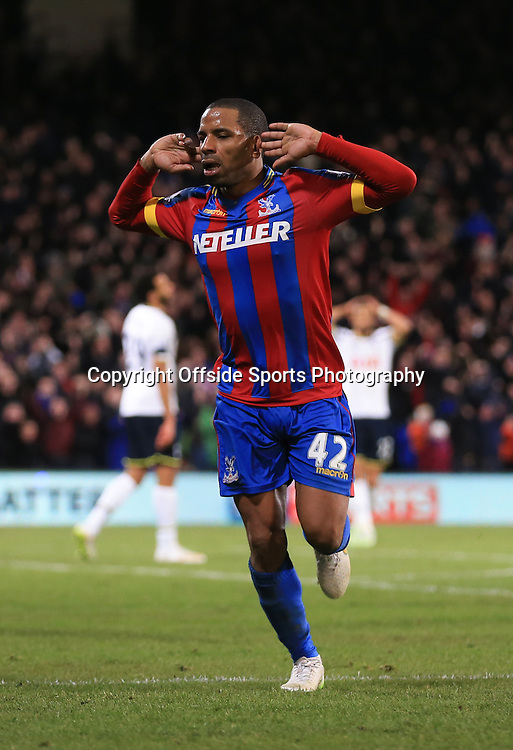 10 January 2015 - Barclays Premier League - Crystal Palace v Tottenham Hotspur - Jason Puncheon of Crystal Palace celebrates scoring his goal - Photo: Marc Atkins / Offside.