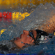 Ryan Lochte of USA winning the Men's 400m IM at the World Swimming Championships in Rome, Italy on Sunday, August 2, 2009. Photo Tim Clayton.