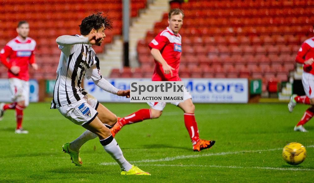 Dunfermline Athletic v Brechin City SPFL League One Season 2015/16 East End Park 05 December 2015<br /> Faissal El Bakhtaoui makes it 1-0<br /> CRAIG BROWN | sportPix.org.uk