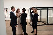 HARRY BLAIN;;  NATALIA VODIANOVA; MAT COLLISHAW; ANTOINE ARNAUD;  POLLY MORGAN, Damien Hirst, Tate Modern: dinner. 2 April 2012.