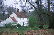 ADD2RF Remote white country cottage in woods Suffolk England