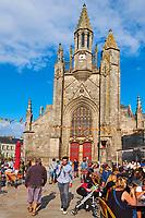 France, Loire-Atlantique (44), Presqu'île de Guérande, Guérande, la cité médiévale, La Collégiale Saint-Aubin // France, Loire-Atlantique, Guérande, medieval city, Saint Aubin church