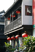 Architecture and details of Jaingnan Ancient River Town, Shanghai - China