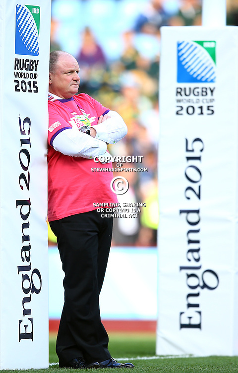 BIRMINGHAM, ENGLAND - SEPTEMBER 26: John McFarland (Defence Coach) of South Africa during the Rugby World Cup 2015 Pool B match between South Africa and Samoa at Villa Park on September 26, 2015 in Birmingham, England. (Photo by Steve Haag/Gallo Images)