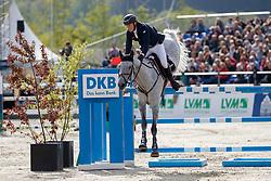 HANLEY Cameron (IRL), Quirex<br /> Hagen - Horses and Dreams meets the Royal Kingdom of Jordan 2018<br /> Grosser Preis der DKB Qualifikation DKB-Riders Tour<br /> 29 April 2018<br /> www.sportfotos-lafrentz.de/Stefan Lafrentz