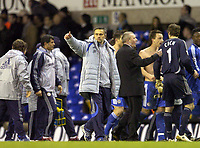 Photo: Olly Greenwood.<br />Tottenham Hotspur v Chelsea. The FA Cup, Quarter Final replay. 19/03/2007. Chelsea's Jose Mourinho celebrates at the end of the game