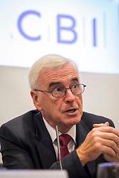 © Licensed to London News Pictures. 24/09/2018. Liverpool, UK. Shadow Chancellor John McDonnell MP speaks at a CBI fringe event at the Labour Party Conference 2018. The CBI has said that plans for employee share ownership proposed by McDonnell would harm jobs and investment Photo credit: Rob Pinney/LNP
