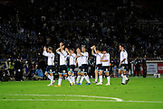 Scotland's players applaud their supporters after their friendly match against Japan in Yokohama, Japan on Saturday 10 Oct. 2009. Japan won 2-0..Photographer: Robert Gilhooly