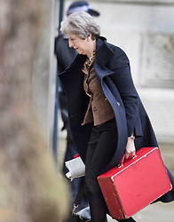 © Licensed to London News Pictures. 29/01/2018. London, UK. Prime Minister Theresa May arrives in Downing Street ahead of a Brexit Committee meeting.  Photo credit: Peter Macdiarmid/LNP