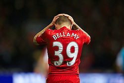 BOLTON, ENGLAND - Saturday, January 21, 2011: Liverpool's Craig Bellamy looks dejected against Bolton Wanderers during the Premiership match at the Reebok Stadium. (Pic by David Rawcliffe/Propaganda)