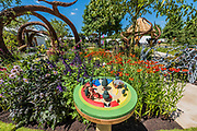 Blind Veterans UK: its all about Community Garden by Andrew Fisher Tomlin and Dan Bowyer - Preparations for the Hampton Court Flower Show, organised by teh Royal Horticultural Society (RHS). In the grounds of the Hampton Court Palace, London.