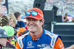 June 9, 2018 - Fort Worth, Texas, U.S - Chip Ganassi Racing driver Scott Dixon (9) of New Zealand in action during the DXC Technology 600 race at Texas Motor Speedway in Fort Worth,Texas. (Credit Image: © Dan Wozniak via ZUMA Wire)