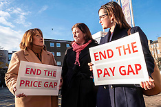 Christine Jardine fights for equal pay and prices, Edinburgh, 14 November 2019