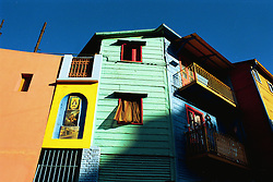 BUENOS AIRES, ARGENTINA: Daily life in residential area of La Boca in Buenos Aires, Argentina. .(Photo by Ami Vitale)