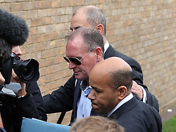 Former England footballer Paul Gascoigne arriving at Stevenage Magistrates Court in Hertfordshire, Monday, 5th August 2013<br /> Picture by Stephen Lock / i-Images
