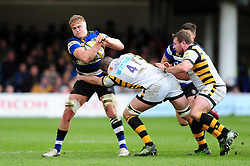 Tom Ellis of Bath Rugby takes on the Wasps defence - Mandatory byline: Patrick Khachfe/JMP - 07966 386802 - 04/03/2017 - RUGBY UNION - The Recreation Ground - Bath, England - Bath Rugby v Wasps - Aviva Premiership.