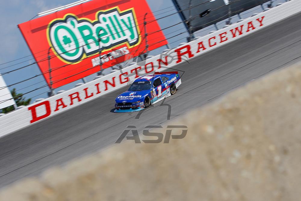 Darlington, SC - Sep 05, 2015:  The NASCAR Xfinity Series teams take to the track for the VFW Sport Clips Help A Hero 200 at Darlington Raceway in Darlington, SC.