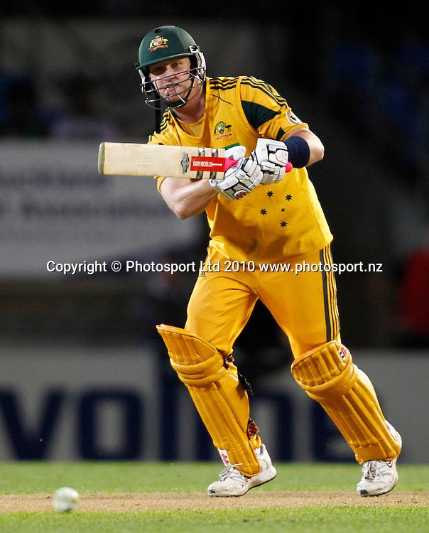 Australian batsman Cameron White. 4th one day international. New Zealand Black Caps versus Australia one day Chappell Hadlee cricket series. Eden Park, Auckland, New Zealand. Thursday 11 March 2010. Photo: Simon Watts/PHOTOSPORT