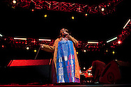 ORLANDO, FL -  MARCH 13: Aretha Franklin performs in concert at Universal Orlando Resort March 13, 2010, in Orlando, Florida. Franklin was performing as part of the Mardi Gras concert series. (Photo by Matt Stroshane/Getty Images) *** Local Caption *** Aretha Franklin