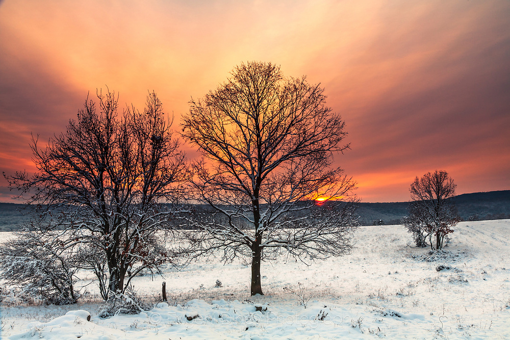 Scenery winter sunrise