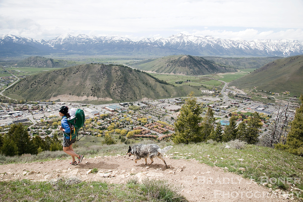 The Josie's Ridge trail on Snow King Mountain is completely free of snow, offering some early-season hiking close to town