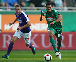 23.10.2016, Allianz Stadion, Wien, AUT, 1. FBL, SK Rapid Wien vs FK Austria Wien, 12 Runde, im Bild Lukas Rotpuller (FK Austria Wien) und Joelinton Cassio Apolinario de Lira (SK Rapid Wien) // during Austrian Football Bundesliga Match, 12th Round, between SK Rapid Vienna and FK Austria Wien at the Allianz Stadion, Vienna, Austria on 2016/10/23. EXPA Pictures © 2016, PhotoCredit: EXPA/ Thomas Haumer