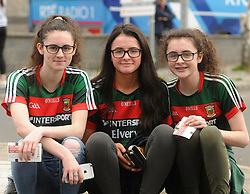 Laura, Chloe, Amy Blake from Lahardane at McHale park on sunday last.<br />