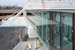 Bridgeport Hospital Park Avenue Campus Outpatient Center, Exterior. Architect: Shepley Bulfinch. Contractor: Gilbane Building Company, Glastonbury, CT. James R Anderson Photography, New Haven CT photog.com. Date of Photograph 07 March 2016  Submission 24  © James R Anderson. Exterior Elevation