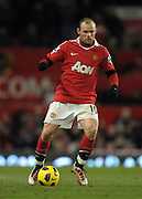 Wayne Rooney (Manchester Utd) during the Barclays Premier League match between Manchester United and Blackburn Rovers at Old Trafford on November 27, 2010 in Manchester, England.