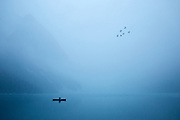 """The Last Paddle"" Lake Louise, Banff National Park."