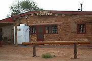 The Oljato Trading Post, the last original trading post established in the west in 1921. The post near Monument Valley on the southern border of Utah with northern Arizona. The valley lies within the range of the Navajo Nation Reservation. The Navajo name for the valley is Tsé Bii' Ndzisgaii - Valley of the Rocks.
