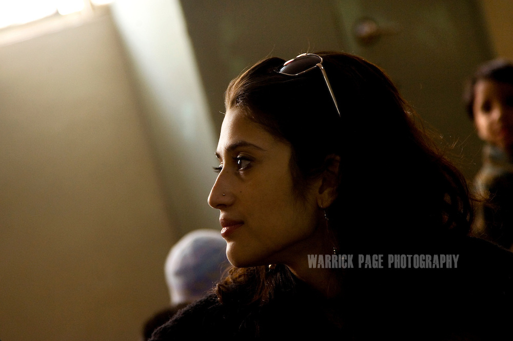 Fatima Bhutto, estranged niece of assassinated former prime minister, Benazir Bhutto, and granddaughter Zulfikar Ali Bhutto, visits children at the Edhi Foundation orphanage, February 2, 2008 in Karachi, Pakistan. Fatima is a writer and a poet whose father, Murtaza Bhutto, was assassinated by police during the premiership of Benazir Bhutto in 1996. It has been widely speculated that she will eventually enter politics; a rumour she strongly denies. (Photo by Warrick Page)