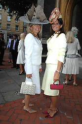 Left to right, PRINCESS CHANTAL OF HANOVER and COUNTESS DEBONAIRE VON BISMARCK at the wedding of Chloe Delevingne to Louis Buckworth at St.Paul's Knightsbridge, London on 7th September 2007.<br />