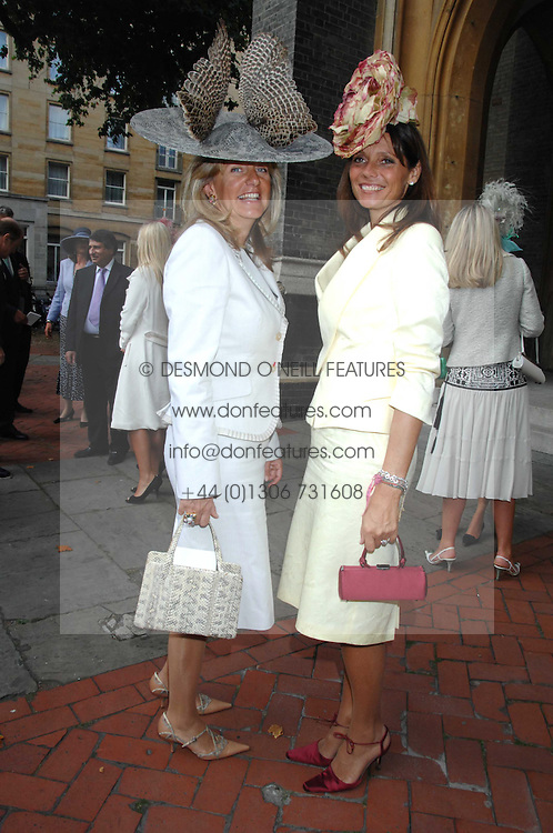 Left to right, PRINCESS CHANTAL OF HANOVER and COUNTESS DEBONAIRE VON BISMARCK at the wedding of Chloe Delevingne to Louis Buckworth at St.Paul's Knightsbridge, London on 7th September 2007.<br /><br />NON EXCLUSIVE - WORLD RIGHTS