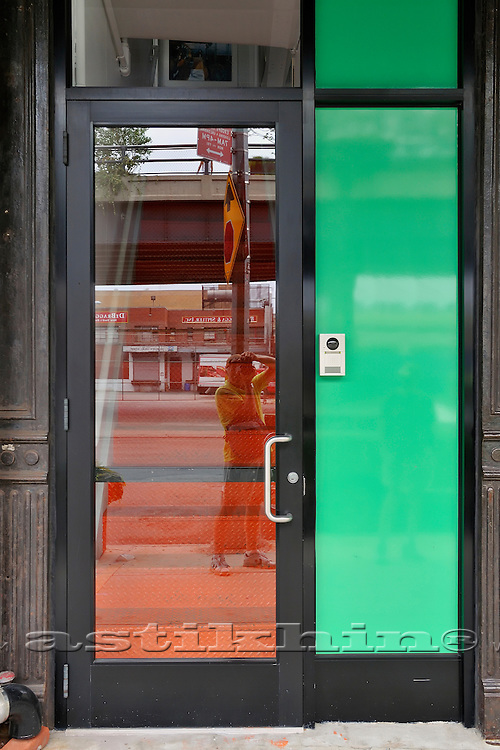 Green orange and reflection