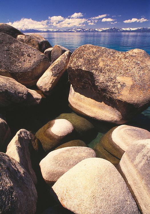 Lake Tahoe Landscape, Lake Tahoe Clear Water Boulders