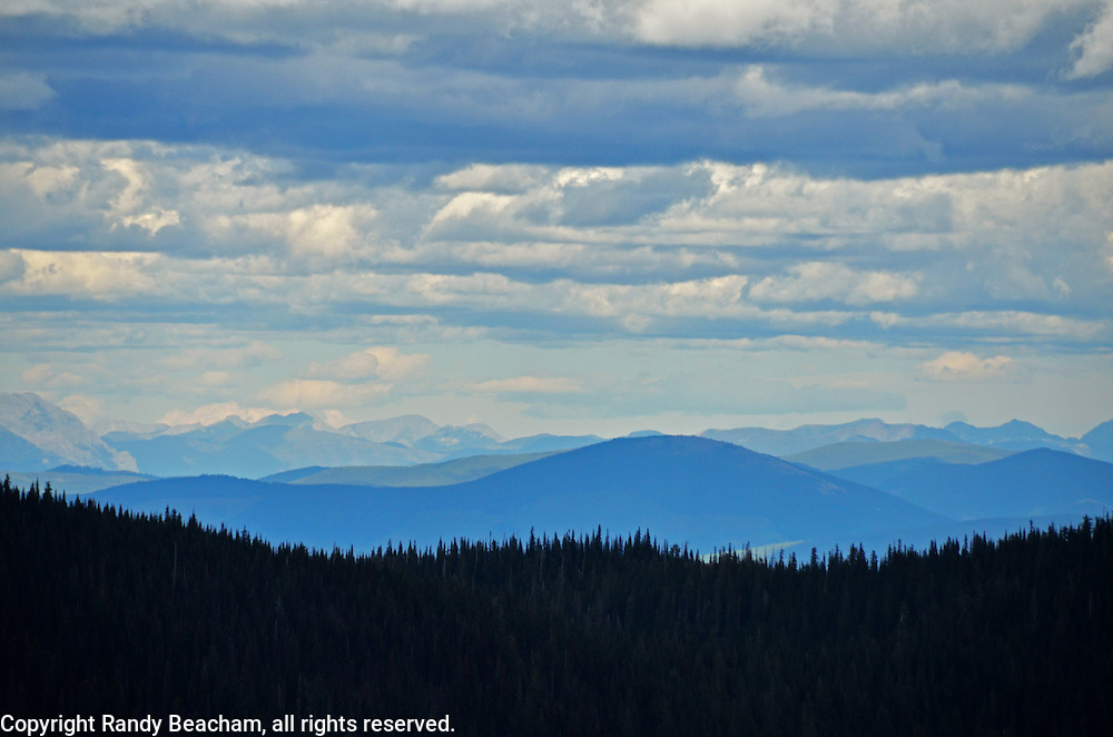 Overlooking the Purcell Mountains in Canada from Rock Candy Mountain in Montana.