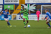 Forest Green Rovers Ethan Pinnock(16) runs forward during the Vanarama National League match between Macclesfield Town and Forest Green Rovers at Moss Rose, Macclesfield, United Kingdom on 12 November 2016. Photo by Shane Healey.