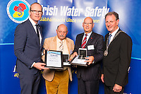 Dublin - Ireland, Tuesday 8th November 2016:<br /> Simon Coveney TD, Minister for Housing, Planning & Local Government with 'Seiko Just In Time Award' recipients Laurence Duggan and William Duggan (Wexford) and Martin O'Sullivan, Chairman of Irish Water Safety at the annual Irish Water Safety Awards held at Dublin Castle.  Photograph: David Branigan/Oceansport