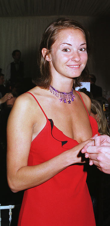 Milliner MISS CAROLINE HICKMAN at a party in London on 5th June 1999.<br /> MSX 154