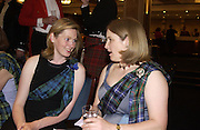 Lady Louise Burrell and Lady Caroline Primrose, The Royal Caledonian Ball 2004. Grosvenor House, 21 May 2004. ONE TIME USE ONLY - DO NOT ARCHIVE  © Copyright Photograph by Dafydd Jones 66 Stockwell Park Rd. London SW9 0DA Tel 020 7733 0108 www.dafjones.com