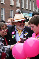 Senator David Norris (center)  at the Dublin Pride 2012 LGBTQ festival parade  Dublin City Ireland. Saturday 30th June 2012.