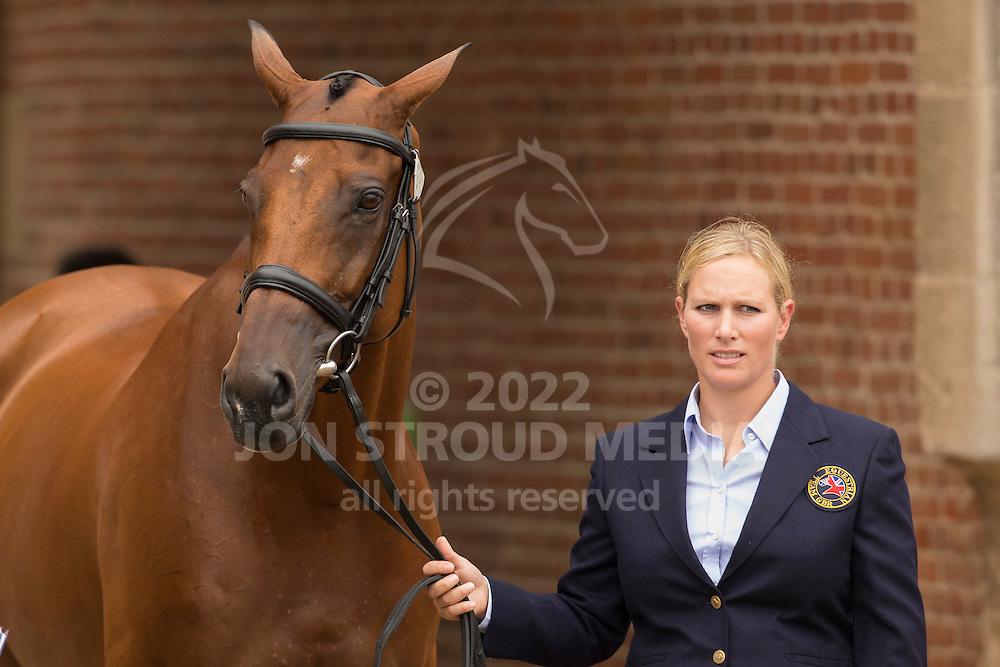 Zara Philips, (GBR), High Kingdom - First Horse Inspection  - Alltech FEI World Equestrian Games&trade; 2014 - Normandy, France.<br /> &copy; Hippo Foto Team - Dirk Caremans<br /> 25/06/14