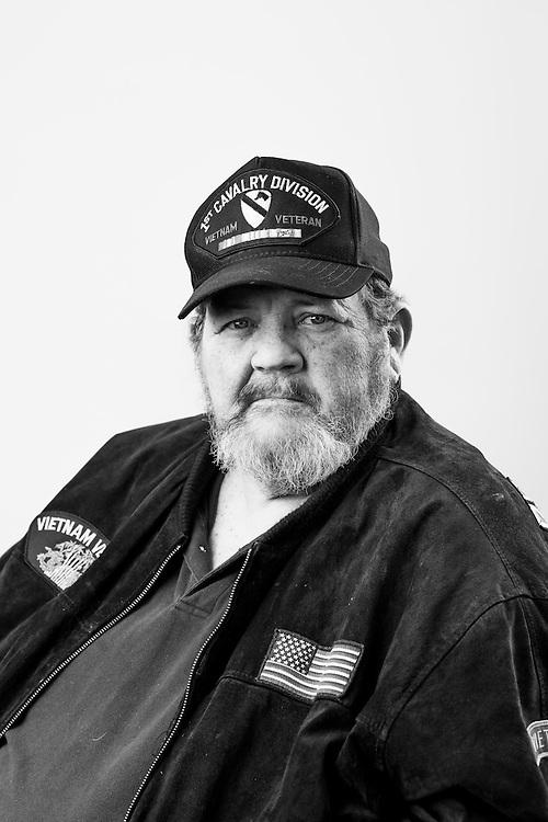 Sherwin Sasseville<br /> Army<br /> E-6<br /> Chef<br /> 1967 - 1970<br /> Vietnam<br /> <br /> Veterans Portrait Project<br /> Springfield, MA