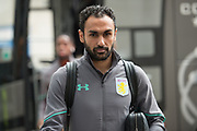 Aston Villa Midfielder Ahmed Elmohamady arriving for the EFL Sky Bet Championship match between Hull City and Aston Villa at the KCOM Stadium, Kingston upon Hull, England on 31 March 2018. Picture by Craig Zadoroznyj.