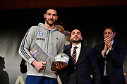 Moraschini Riccardo<br /> LBA AWORDS 2018/19<br /> Basket Serie A LBA 2018/2019<br /> Premiazioni Sala Buzzati - Rcs<br /> Milano 13 May 2019<br /> Foto Mattia Ozbot / Ciamillo-Castoria